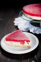 Diät-Saisonkuchen mit Wassermelonengelee und Mascarpone foto
