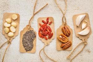 Superfood Abstract - Konzept für gesunde Ernährung foto