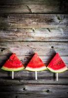 geschnittene Wassermelone foto