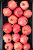 Granatäpfel in einer Schachtel foto