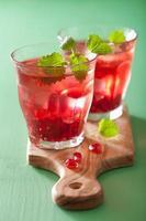 Sommer Granatapfel Getränk mit Melisse