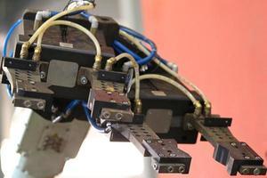 Element eines Industrieroboters foto