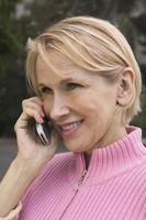 Frau am Handy