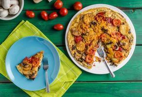 Kartoffelfrittata mit Chorizo foto