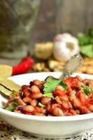 Lobio - traditionelles georgisches Gericht. foto