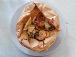 Garnelen und Tintenfisch foto