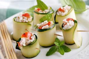 Zucchinirollen foto