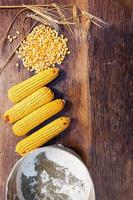 Zutaten für eine gesunde Ernährung von oben foto