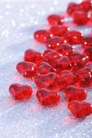 rote glasherzen foto