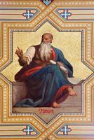 Wien - Fresko des Amos-Propheten foto