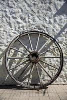 historisches Rad, Colonia del Sacramento. Uruguay. foto