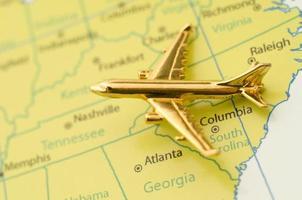Flugzeug über den Südosten der Vereinigten Staaten foto