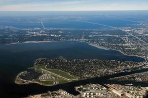 Tampa, Florida Luftaufnahme