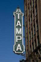 Tampa-Zeichen foto