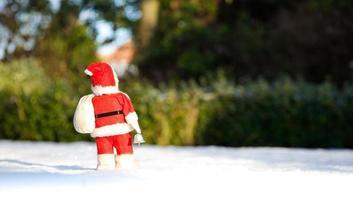 Weihnachten ist vorbei, der Weihnachtsmann geht für ein weiteres Jahr weg! foto