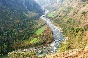 Modi Flussschlucht foto