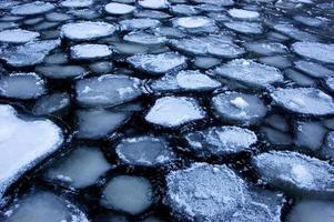 Eis auf dem Fluss foto