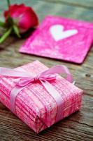 Valentinstag Hintergrund mit Geschenken foto