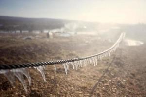 gefrorener Zaun