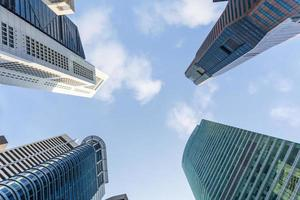 Wolkenkratzer in Singapur foto