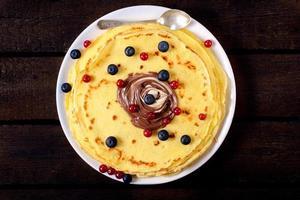 Beerenpfannkuchen foto