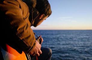 Gitarrenspieler foto