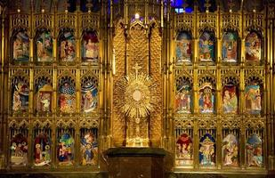 goldener Altar nah oben Tempel der Versöhnung Guadalajara foto