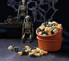 Halloween ungekochte Nudeln foto