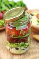Glas Salat foto