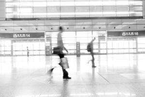 Shanghai Pudong Flughafen. Innenraum des Flughafens foto