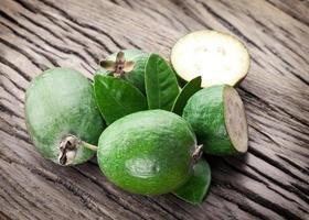 Feijoa Früchte. foto