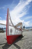 das Kanu in Lanyu. foto