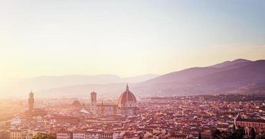 Panorama Sonnenuntergang Landschaft von Florenz foto