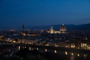 am frühen Morgen Florenz Landschaft foto