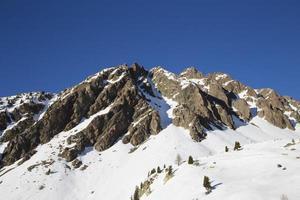 Winterlandschaft in Frankreich foto