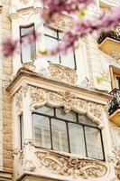 Nahaufnahme des malerischen Hauses in Madrid foto