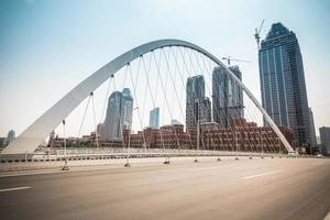 Stadtbrücke in Tianjin foto
