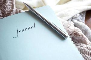 Tagebuch im Winter foto