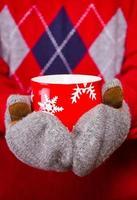 warmes Getränk im Winter foto