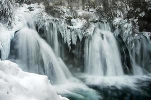 Winterwasserfall foto