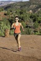Frau Trailrunning foto