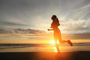 Laufsportfrau foto