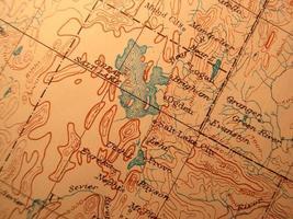 Antike Karte, Salt Lake City, Utah foto