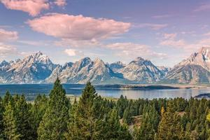 Jackson Lake landschaftlich reizvoll foto