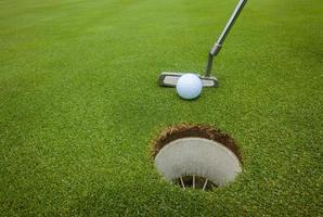 Golf Putter Ball Loch foto