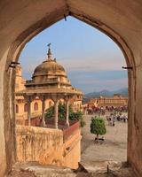 Blick vom Bernstein Fort, Jaipur, Indien foto