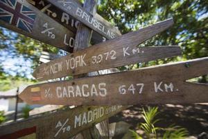 Ziel Holz Zeichen Pfeile, Venezuela