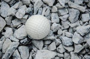 weißer Golfball foto