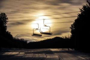 Sonnenaufgang Sessellift foto