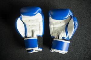 """blaue Boxhandschuhe """"muay thai"""" foto"""